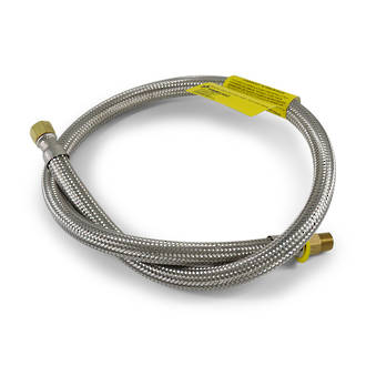 "8mm Braided Hose 900mm 1/4"" F Convex x 1/4"" M"