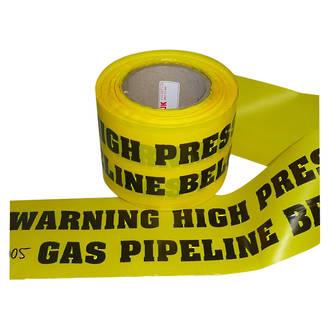 Warning Label - High Pressure Gas Pipeline Below