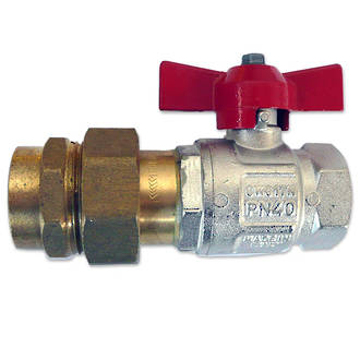 "1/2"" M/F Water Ball Valve with F/F Mac Union"