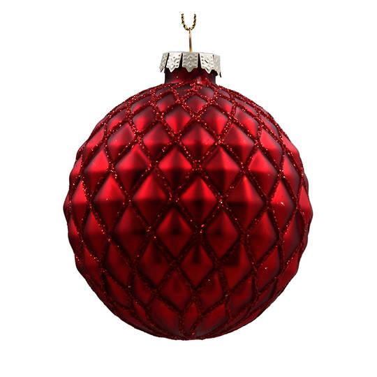 Glass Ball Matt Red, Lounge 8cm