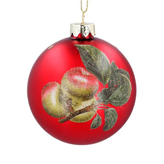 Glass Ball Red, Apple 8cm