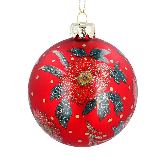 Glass Ball Red, Red Rose 8cm