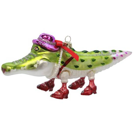 Glass Painted Alligator 17cm