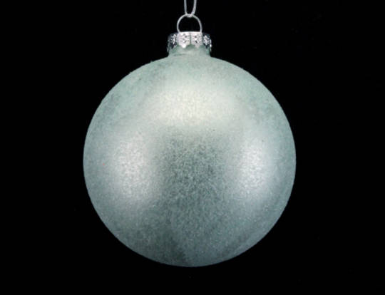Glass Ball Pale Green, Frosted 8cm