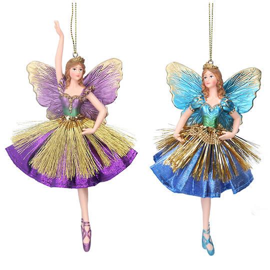 Resin Fabric Multi Colour Fairy 17cm