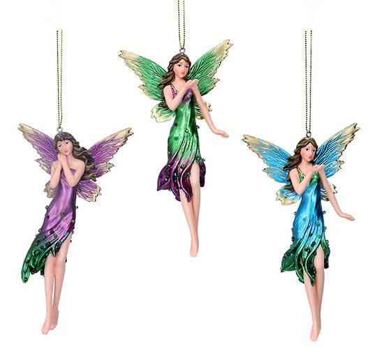 Resin Tall Multi Colour Fairy 17cm