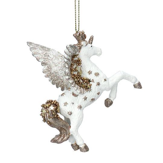 Resin Cream & Gold Starlight Unicorn 9cm