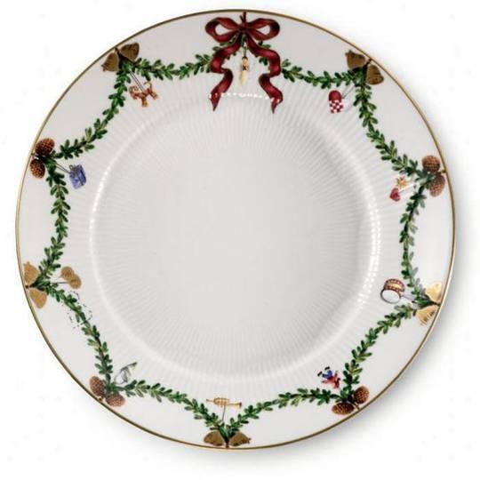 StarFluted Christmas Bread Plate 19cm