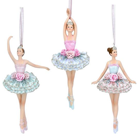 Resin Pastel Flower Ballerina 15cm