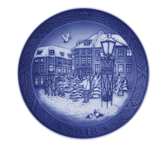 Royal Copenhagen Annual Christmas Plate 2018