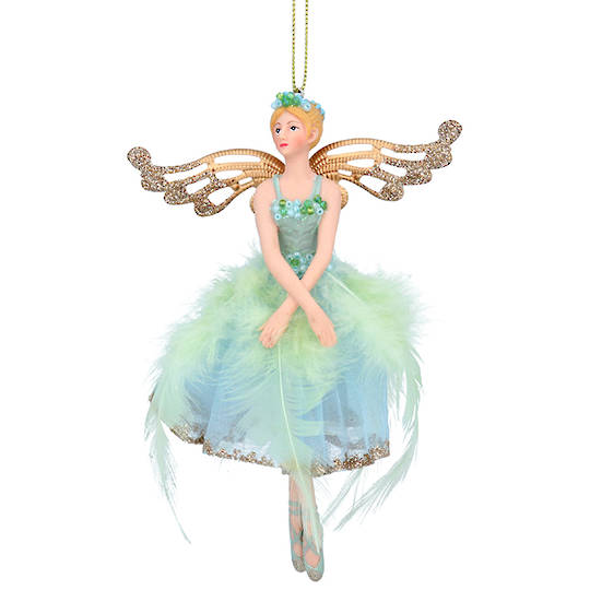 Resin Fabric Paua Fairy 15cm