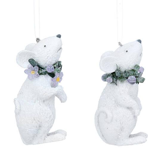 Resin Winter Dream Mouse 7cm