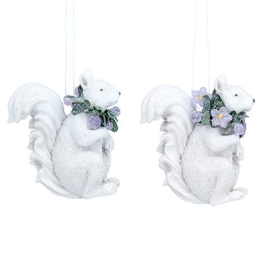 Resin Winter Dream Squirrel 6cm