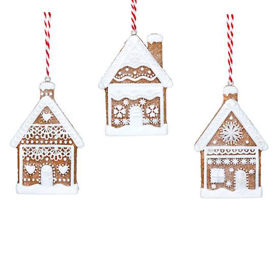 Resin Noel 2D Gingerbread House 7cm