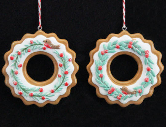 Resin Nordic Gingerbread Wreath