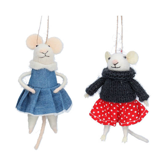 Wool Dressed Mouse 14cm