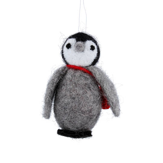 Wool Penguin with Bag 8cm