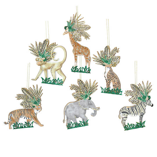 Wood Noble Jungle Animal 11cm