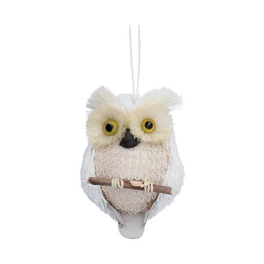 Bristle White Barn Owl 13cm