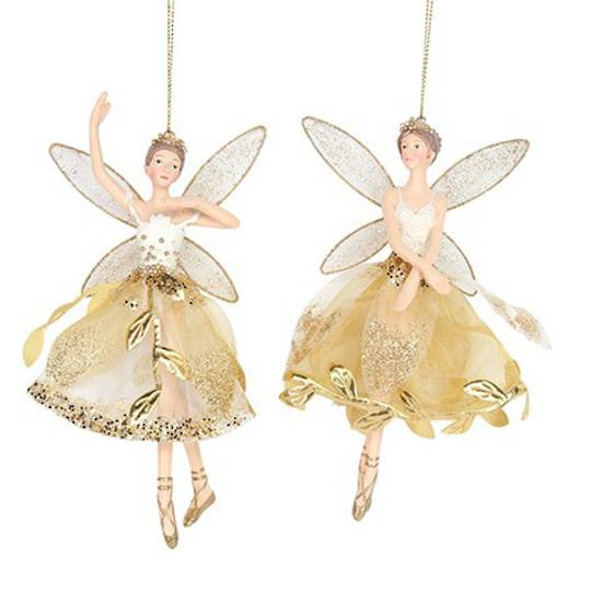 Resin Fairy Gold Leaf Skirt 15cm