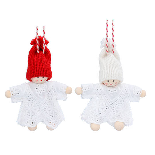 Wood and Lace Noel Child 9cm