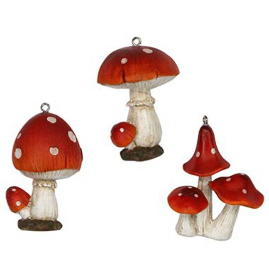 Resin Mushrooms 6cm