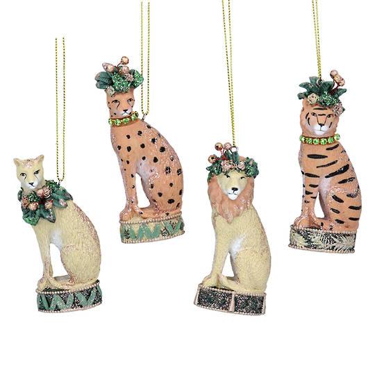 Resin Noble Jungle Cat 8cm