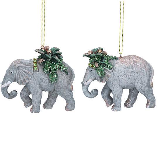 Resin Noble Jungle Elephant 8cm