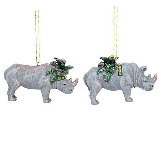 Resin Noble Jungle Rhino 8cm