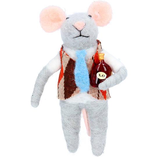 Wool Mouse in Waistcoat 11cm