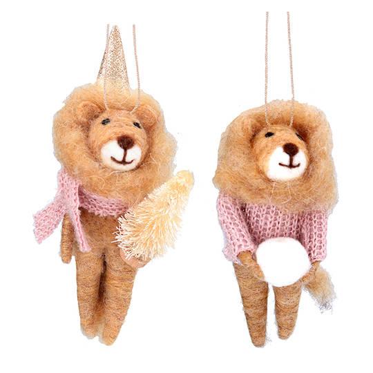 Wool Dressed Lion 13cm