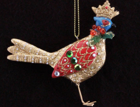 Resin Pheasant with Crown 7cm