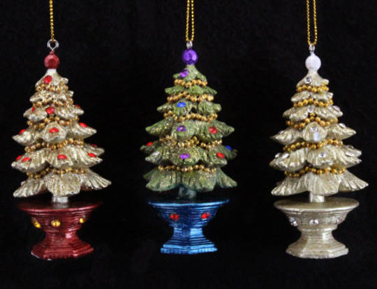 Resin Regal Jewelled 3D Tree in Pot