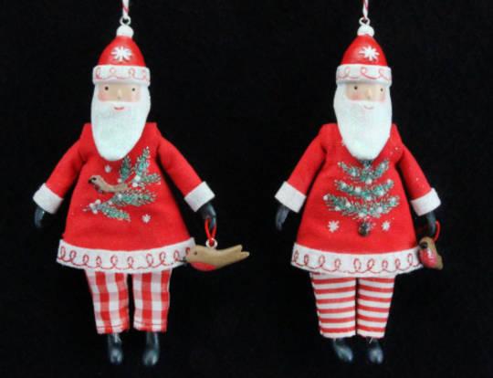 Hanging Resin Nordic Santa Fabric