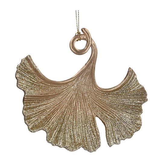 Acrylic Gold Gingko Leaf 9cm