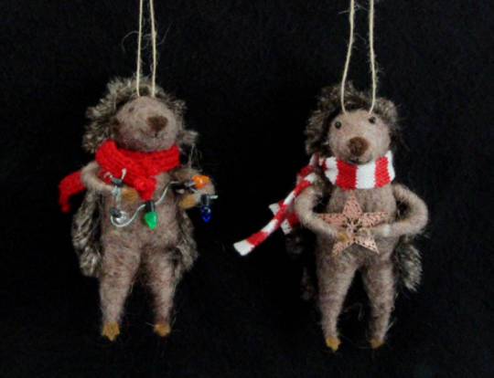 Wool Hedgehog with Scarf 13cm