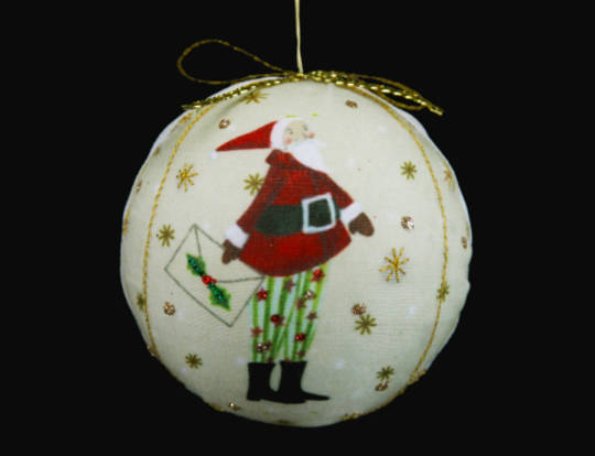 Fabric Ball Letter to Santa 7cm