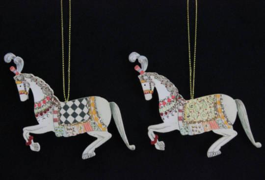 Wooden Circus Horse 10cm