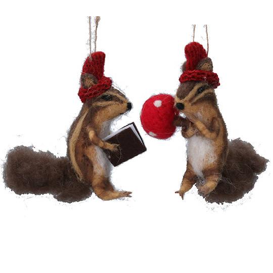 Wool Chipmunk 12cm