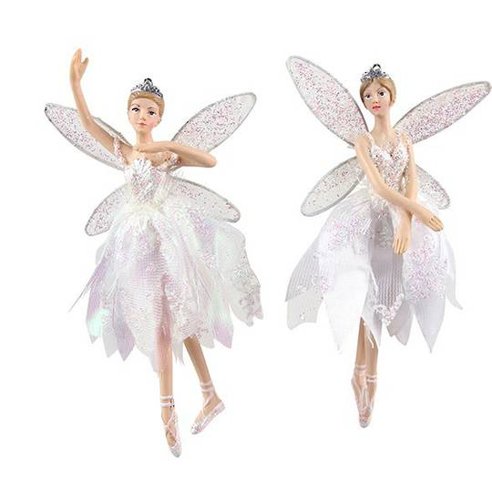 Resin Fairy with Sheer Iridescent Dress 17cm