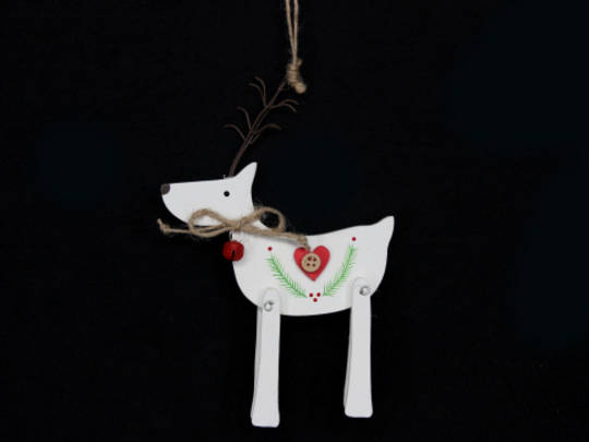White Wood Deer 18cm