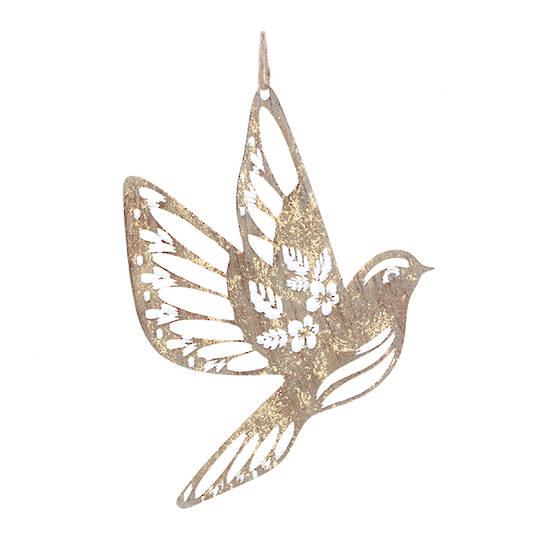 Tin Gold Flying Bird 15cm