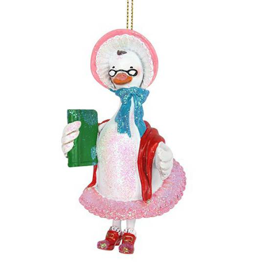 Resin Old Mother Goose 10cm