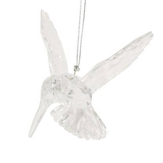 Clear Acrylic Humming Bird 10cm