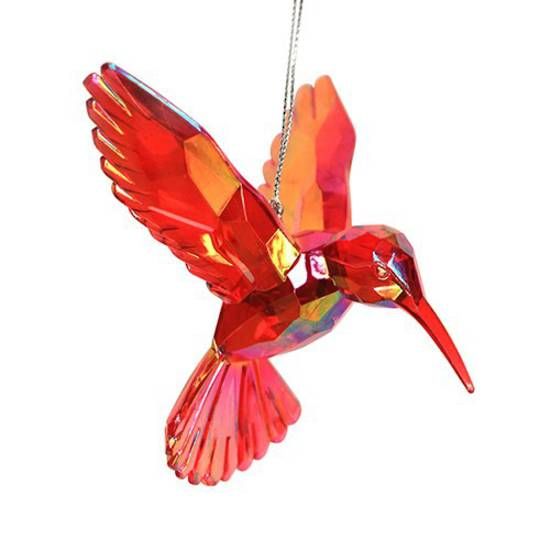 Acrylic Red Humming Bird 14cm