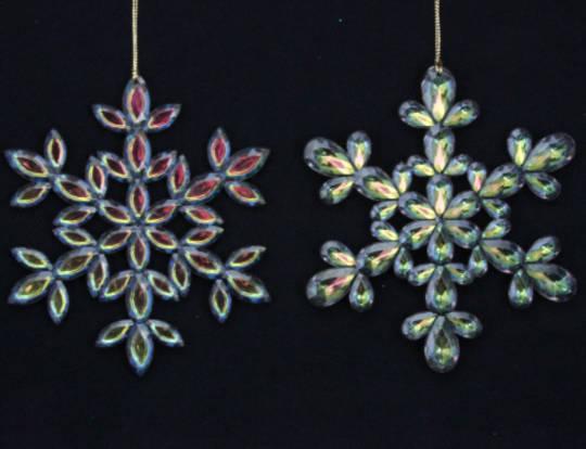 Acrylic Peacock Snowflake 14cm