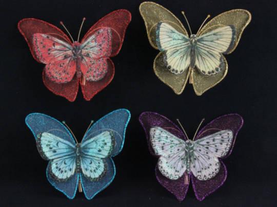 Decoupage Butterfly Clips 13cm