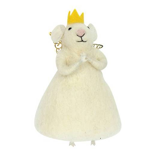Wool White Princess Mouse 12cm