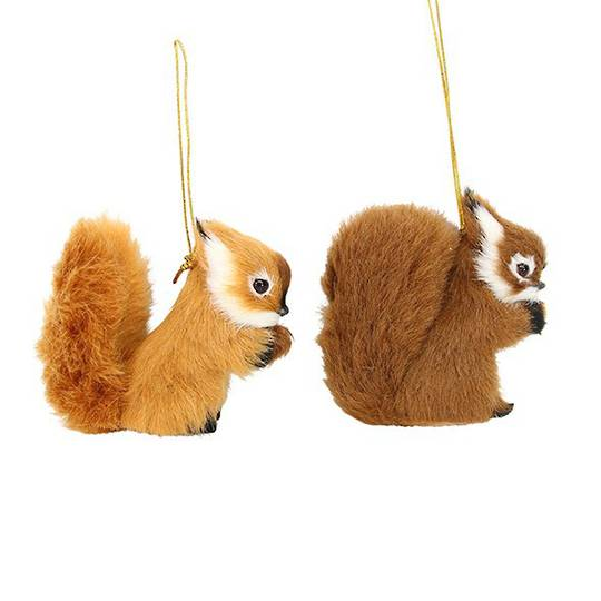 Fluffy Fur Fabric Squirrel 9cm