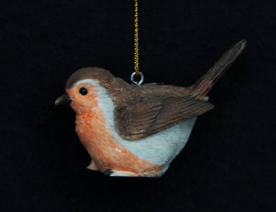 Hanging Resin Robin 6cm